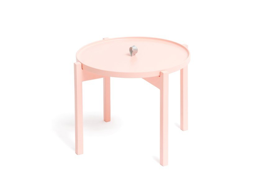 Round side table with tray OGIS by Aggy