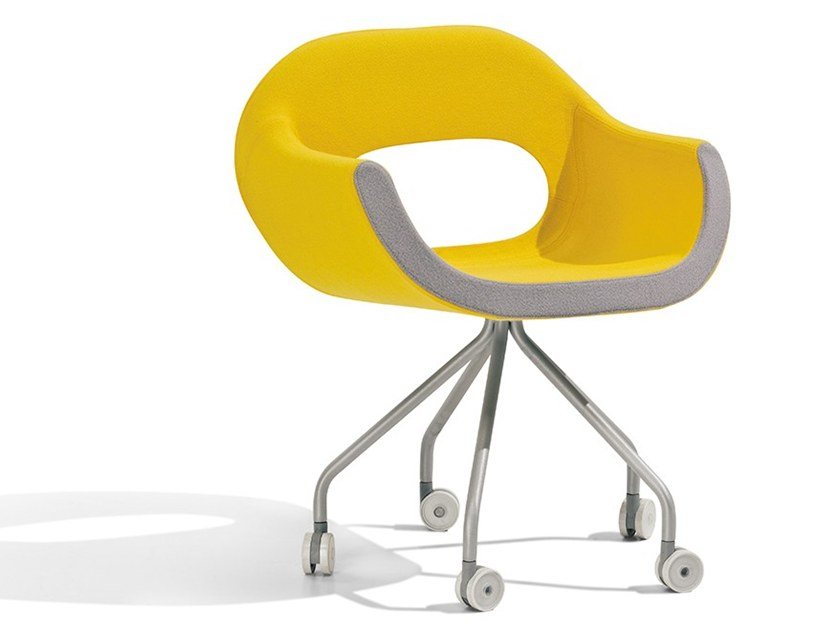 Fabric chair / task chair OHM | Swivel chair by Felicerossi