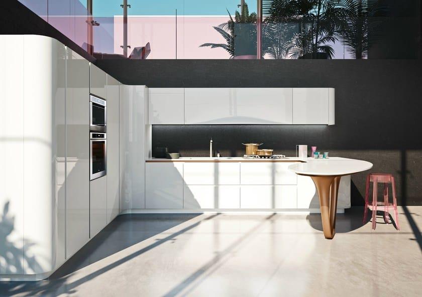 Schön Lackierte Küche Mit Halbinsel OLA 25 | Küche Mit Halbinsel By Snaidero