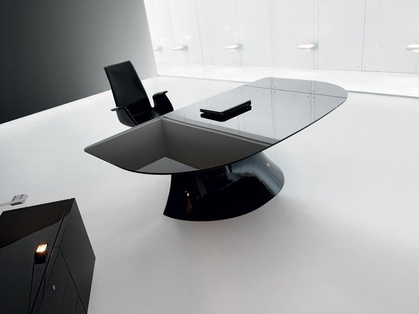 Glass Executive Desk Ola Office By Martex