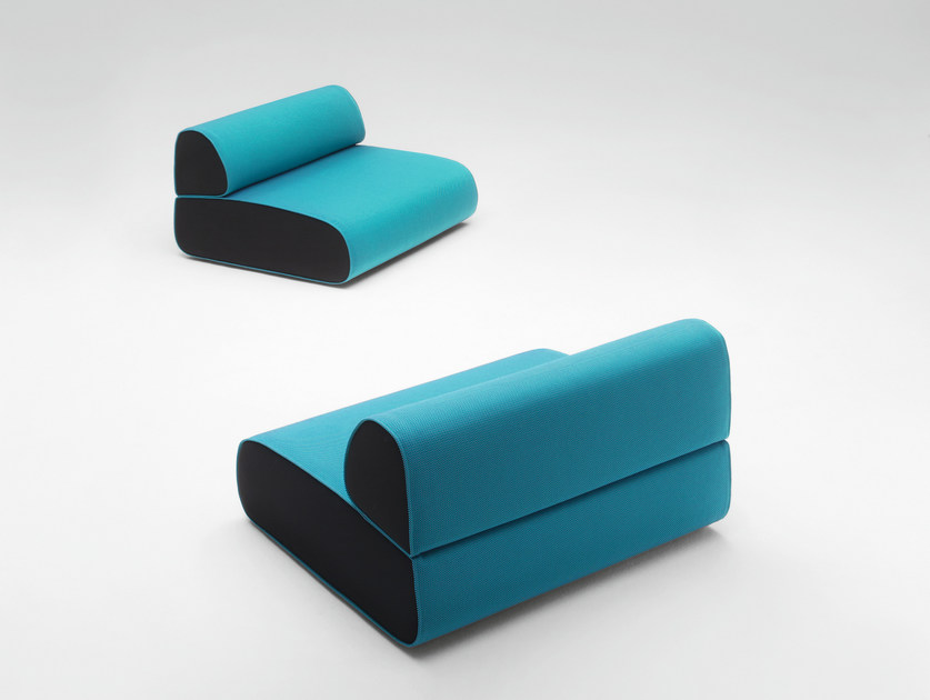 Double upholstered garden armchair OLA by paola lenti