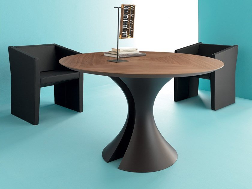 Round wooden meeting table OLA | Round meeting table by Martex