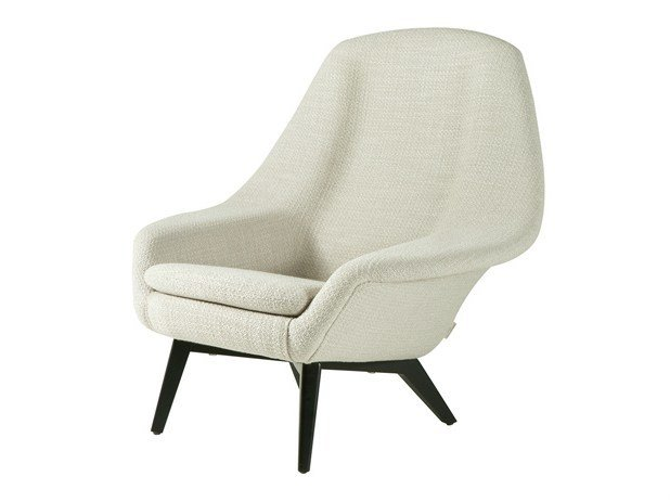 Upholstered fabric armchair with armrests OLAF | Upholstered armchair by Hamilton Conte Paris