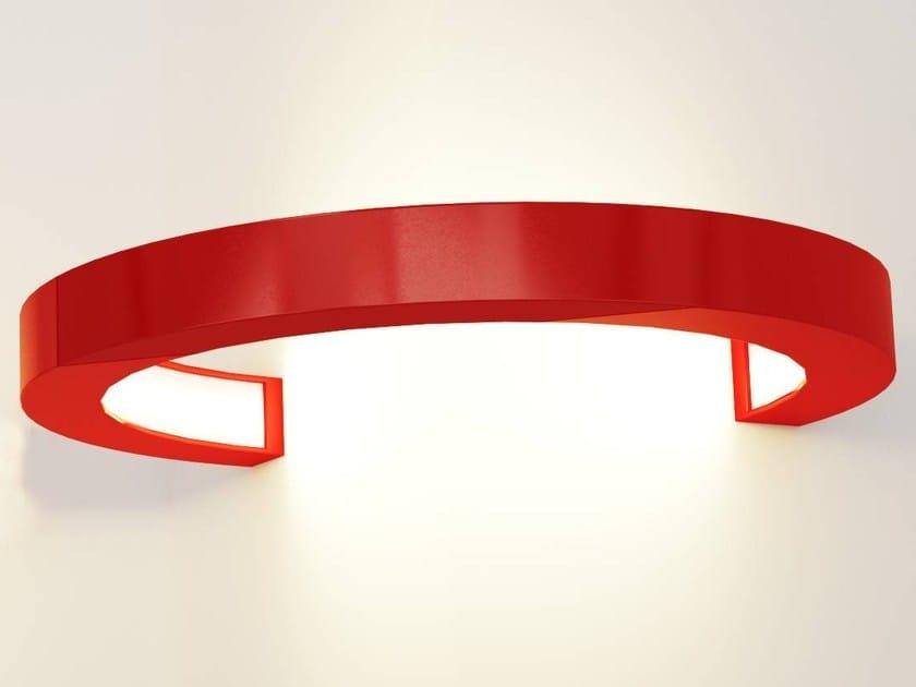 LED indirect light aluminium wall lamp OLALA WALL 270 by Oleant