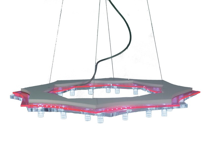 LED PMMA pendant lamp OLD AGE 50 by Kriladesign