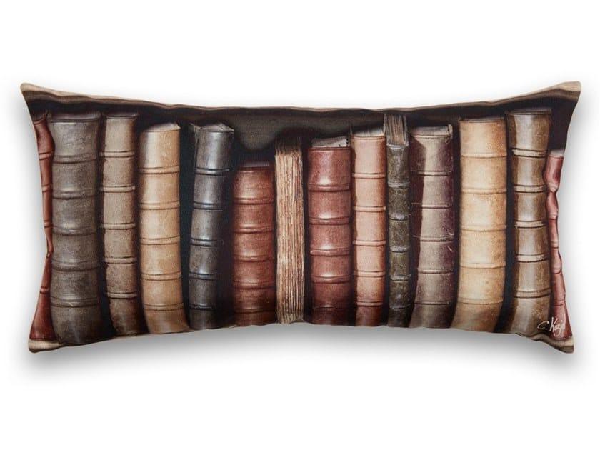 Rectangular polyester cushion OLD BOOKSHELVES LARGE by Koziel
