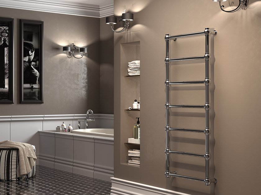 Vertical wall-mounted towel warmer OLD FASHION by XÒ by Metalform