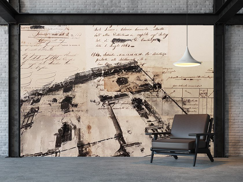 Wall tiles / wallpaper OLD PAPER BUILDING 02 by Officinarkitettura®
