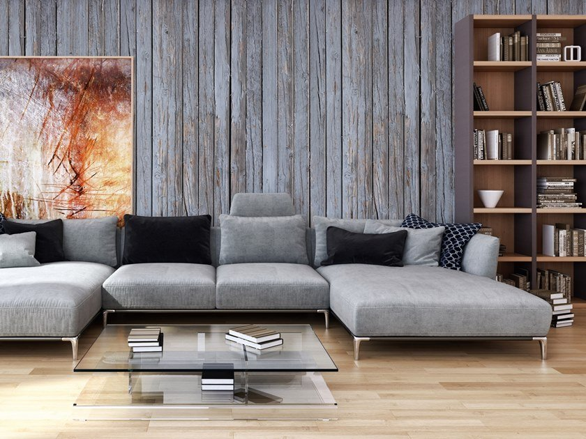 Wood effect Digital printing wallpaper OLD WOODEN WALL by Architects Paper