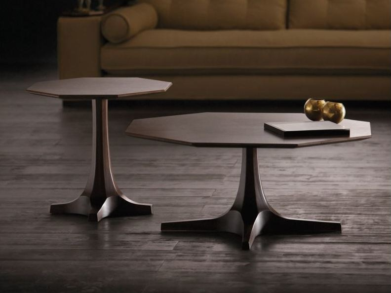 Octagonal wooden side table OLGA by OPERA CONTEMPORARY