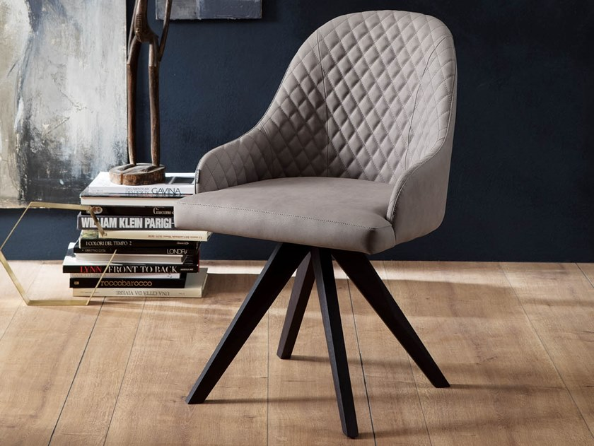 Upholstered chair with armrests OLIMPIA by Ozzio Italia