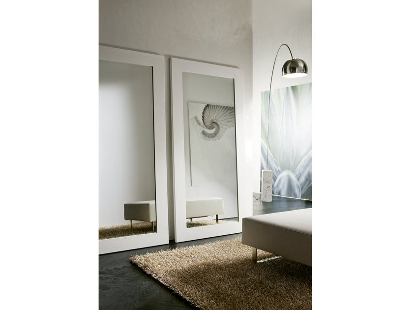 Freestanding framed mirror OLIMPO by Pacini & Cappellini