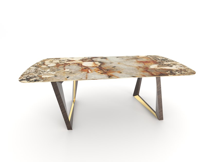 Rectangular granite dining table OLISIPPO by Green Apple