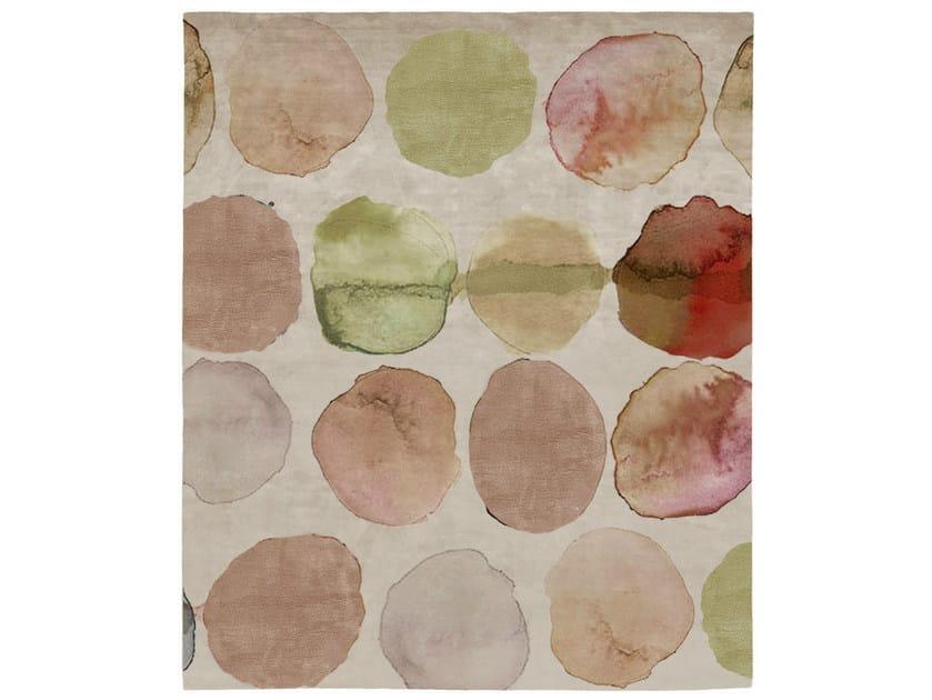 Handmade rectangular rug OLIVE STREET HUNTERS POINT by HENZEL STUDIO
