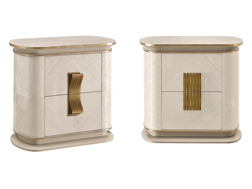 Bedside table with drawers OLIVER | Bedside table with drawers by A.R. Arredamenti