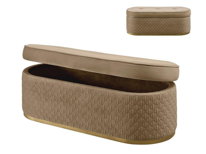 Storage fabric bench OLIVER | Bench by A.R. Arredamenti
