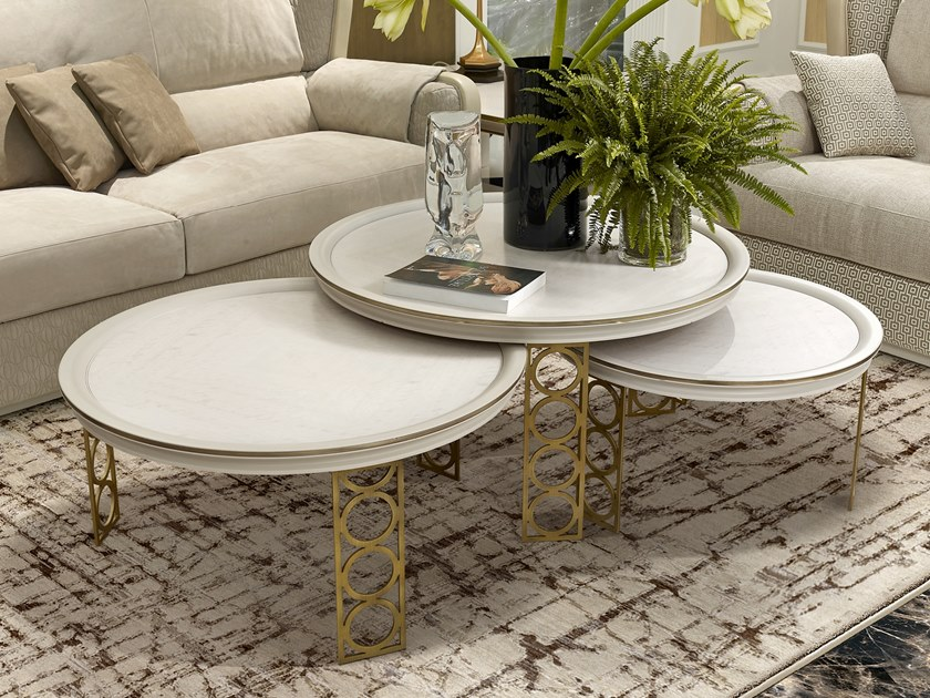 Round coffee table OLIVER   Round coffee table by A.R. Arredamenti