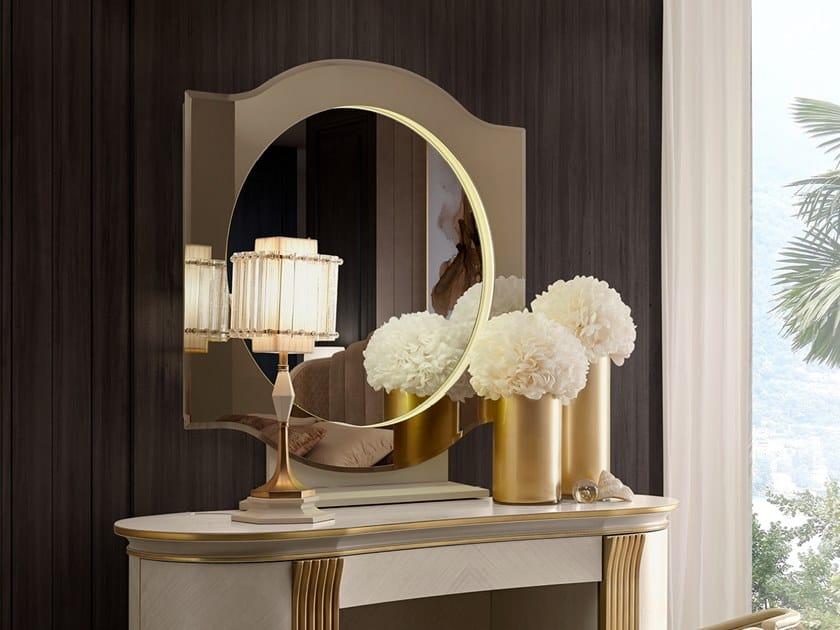 Framed wall-mounted mirror OLIVER   Mirror by A.R. Arredamenti