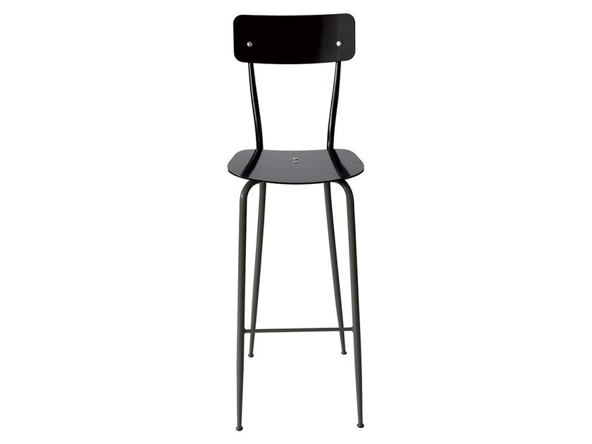Aluminium barstool with back OLIVIA | Aluminium stool by Vela Arredamenti