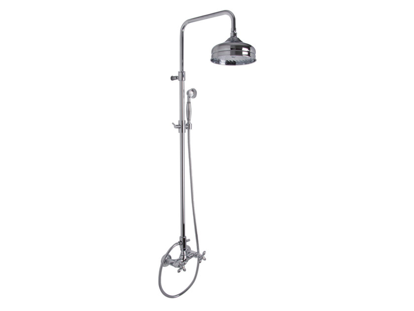 Wall-mounted shower panel with overhead shower OLIVIA F5005/2 | Shower panel by FIMA Carlo Frattini