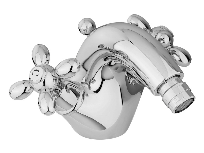 Countertop 1 hole bidet tap with swivel spout OLIVIA F5042 | Bidet tap by FIMA Carlo Frattini
