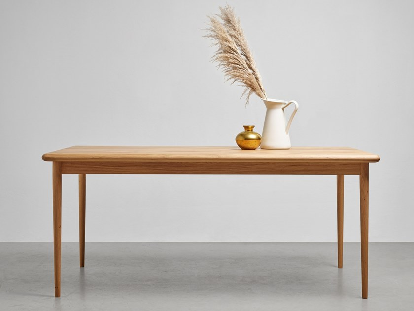 Rectangular oak dining table OLIVIA by Hoom