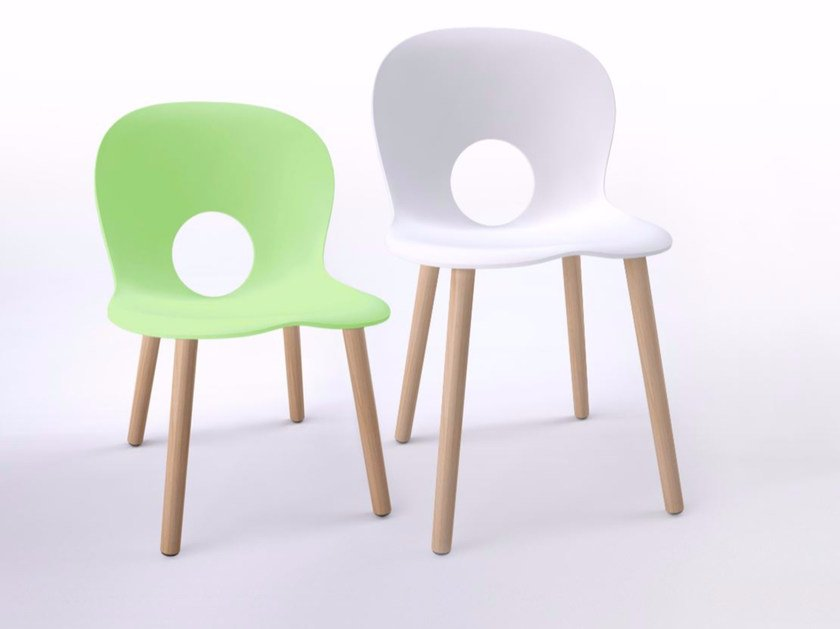 Polypropylene kids chair OLIVIA WOOD BABY by REXITE