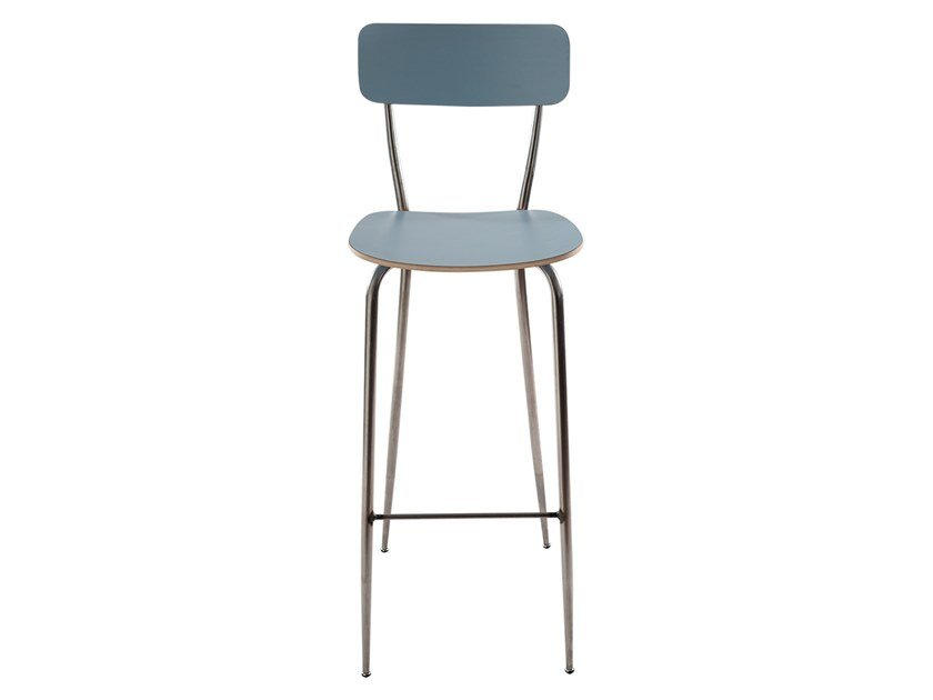 Wooden barstool with back OLIVIA | Wooden stool by Vela Arredamenti