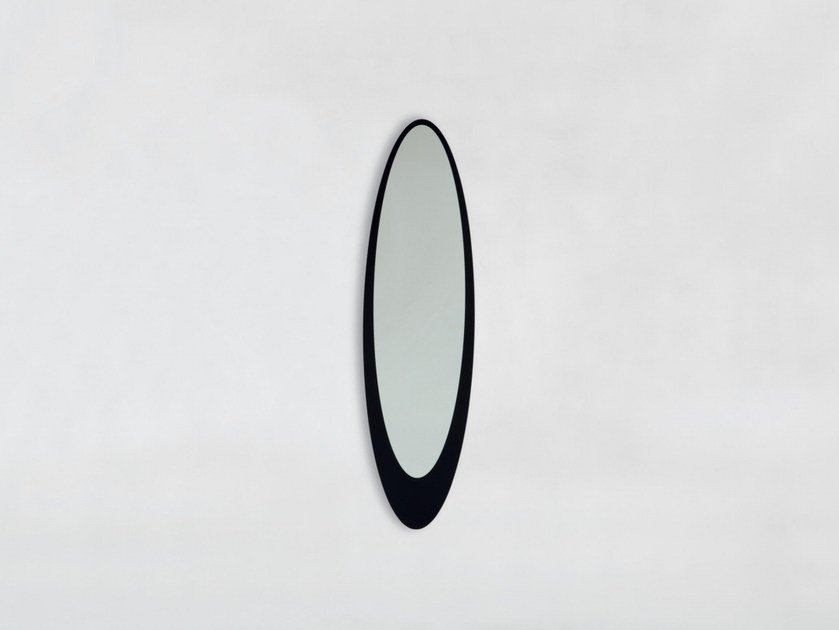 Oval wall-mounted framed mirror OLMI by Tonin Casa