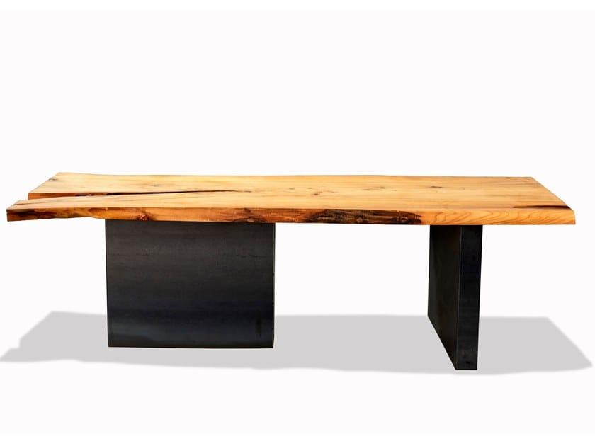 Rectangular elm table UNICA   Elm table by Tabula