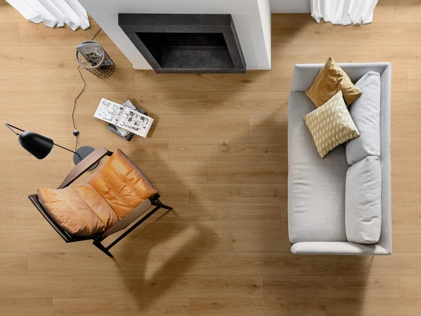 Pavimento in gres porcellanato effetto legno per interni ed esterni OLTRE by MARAZZI