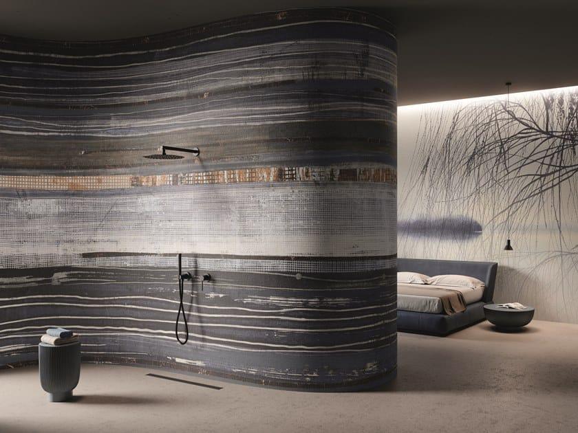 Carta da parati effetto muro in GlamFusion™ OLYMPE by GLAMORA