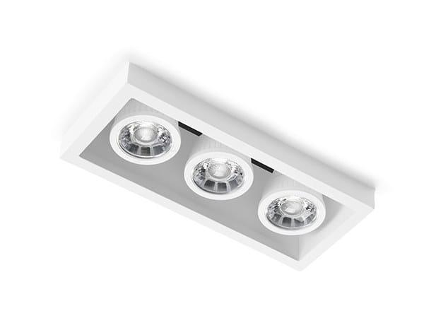 Semi-inset gypsum ceiling lamp OLYMPIA | Semi-inset ceiling lamp by Sforzin