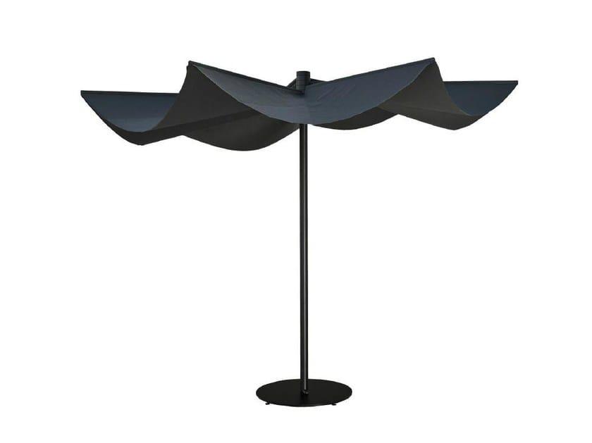 Round Technical Fabric Garden Umbrella OM | Round Garden Umbrella By Calma