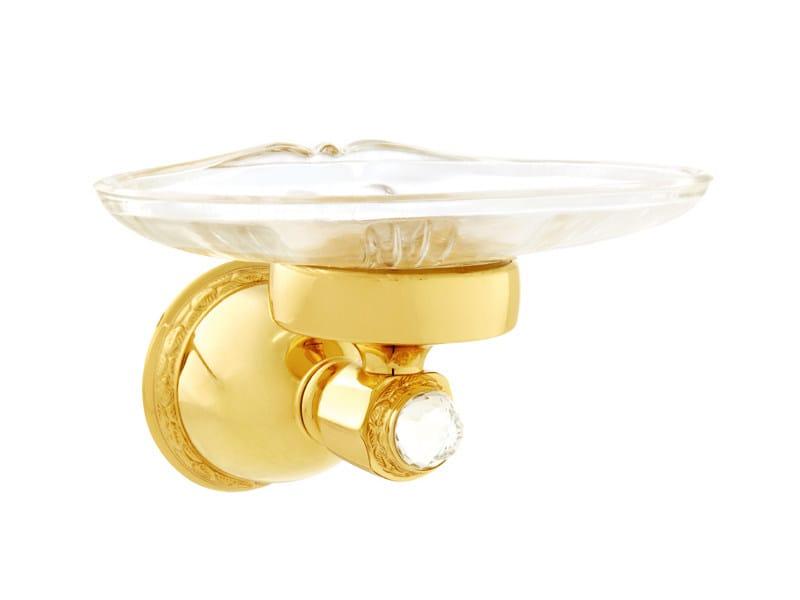 Brass soap dish with Swarovski® Crystals OMAN | Soap dish with Swarovski® Crystals by Bronces Mestre