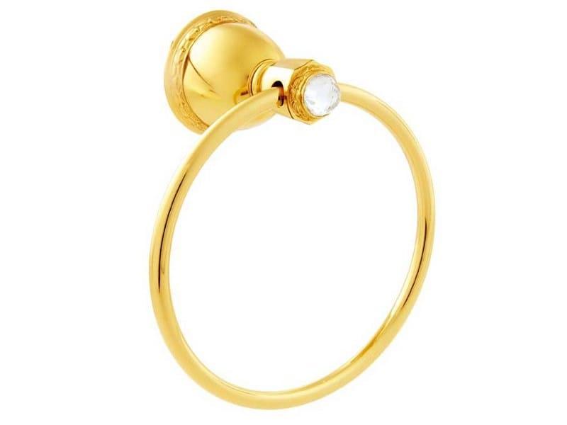 Brass towel ring with Swarovski® Crystals OMAN | Towel ring with Swarovski® Crystals by Bronces Mestre