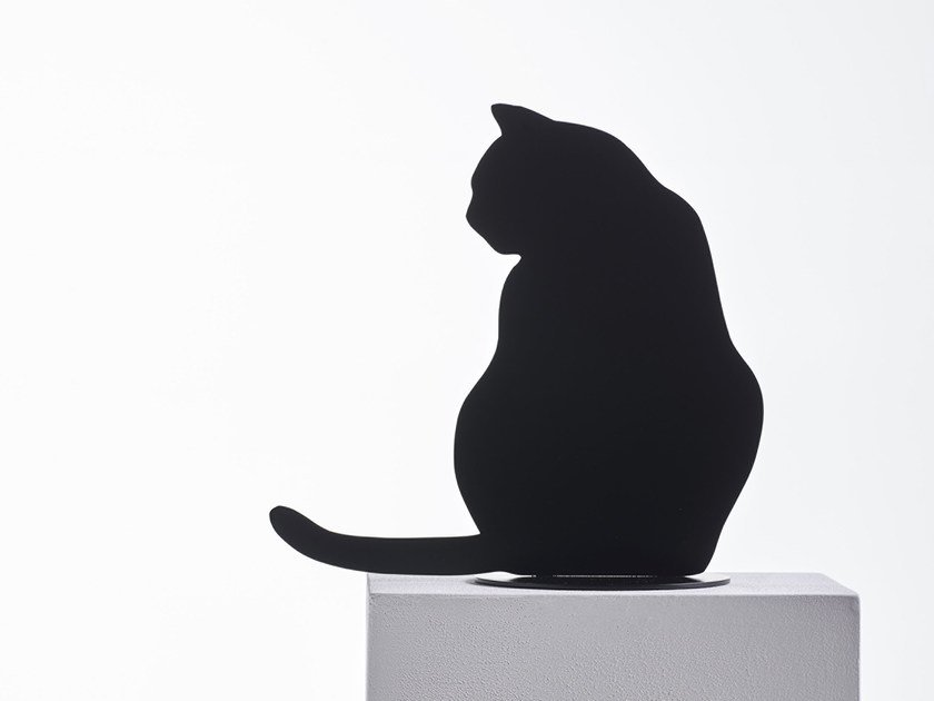 Steel sculpture OMBRES DES CHATS by Opinion Ciatti