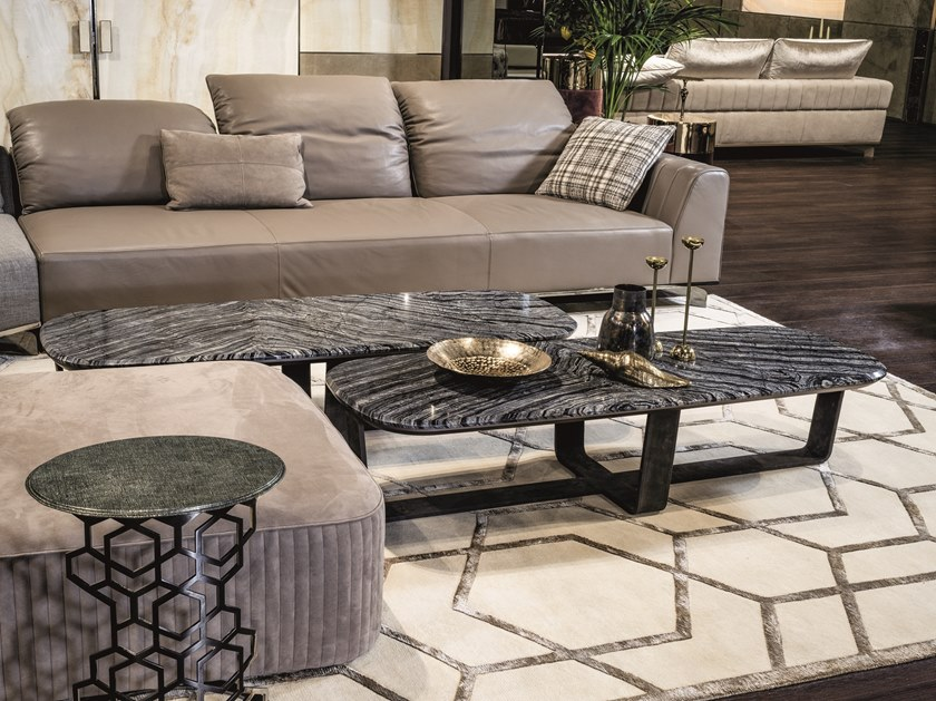 Rectangular marble coffee table OMEGA | Rectangular coffee table by Longhi