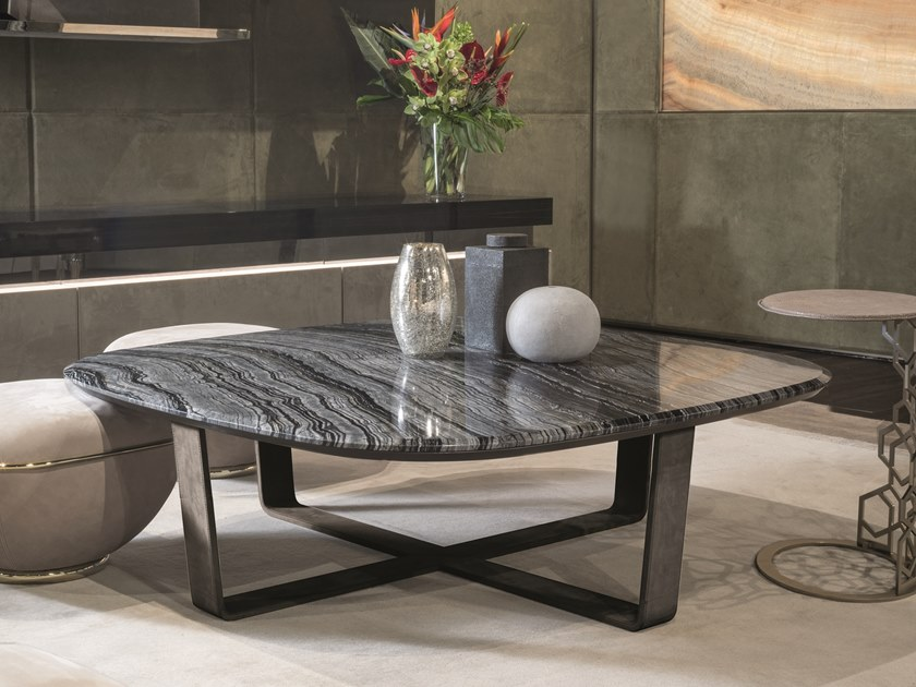 Square marble coffee table OMEGA | Square coffee table by Longhi