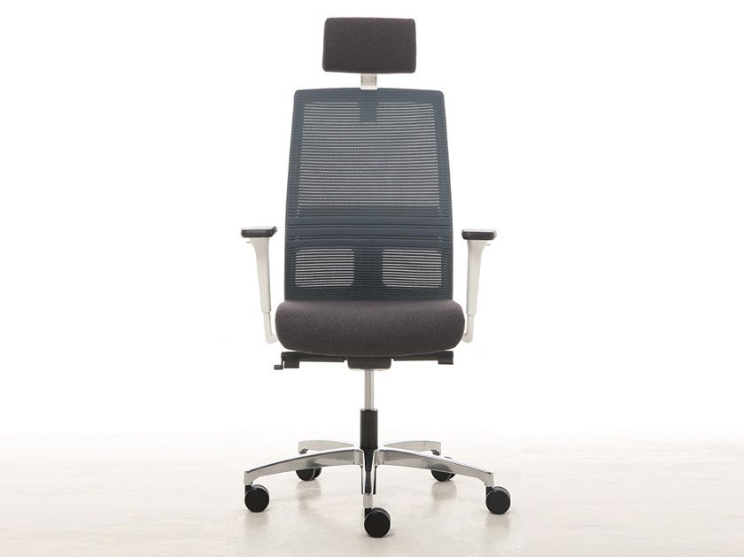Executive chair with headrest OMNIA WHITE PLUS | Executive chair by Linea Fabbrica