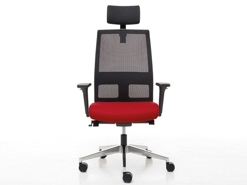 Swivel executive chair with headrest OMNIA | Executive chair by Linea Fabbrica