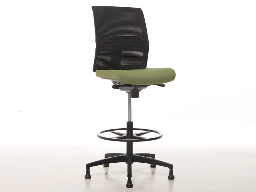 Drafting stool with 5-Spoke base OMNIA PLUS | Task chair by Linea Fabbrica