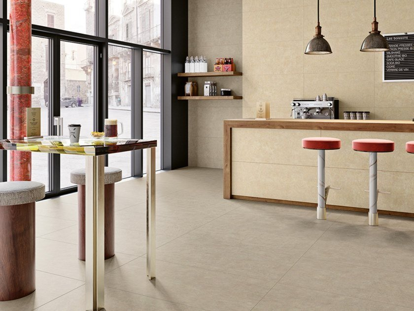 Outdoor indoor full-body porcelain stoneware wall/floor tiles OMNISTONE by Revigrés
