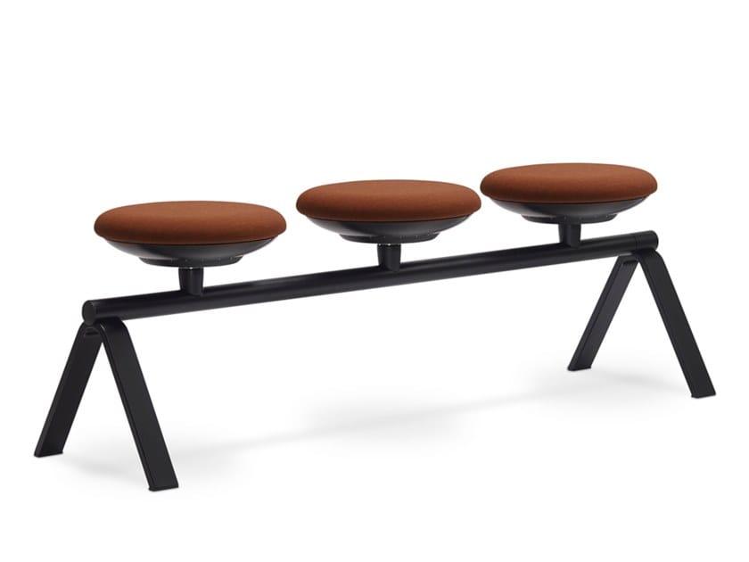 Freestanding beam seating ON | Freestanding beam seating by Sitland