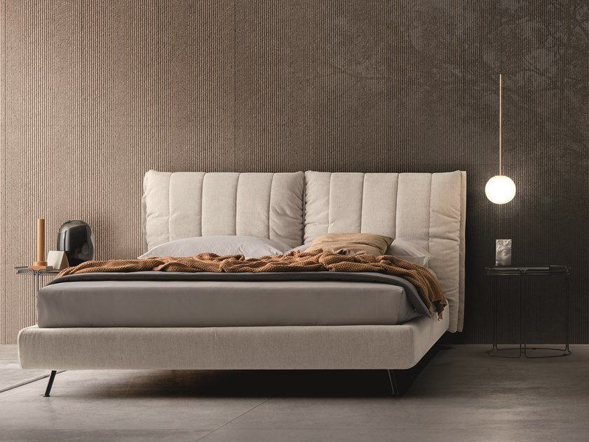 Fabric bed with high headboard ON LINE | Fabric bed by Ditre Italia