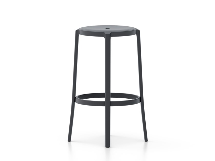 High PET stool with footrest ON & ON | High stool by Emeco
