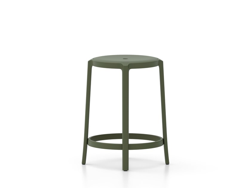 PET stool with footrest ON & ON | Stool by Emeco