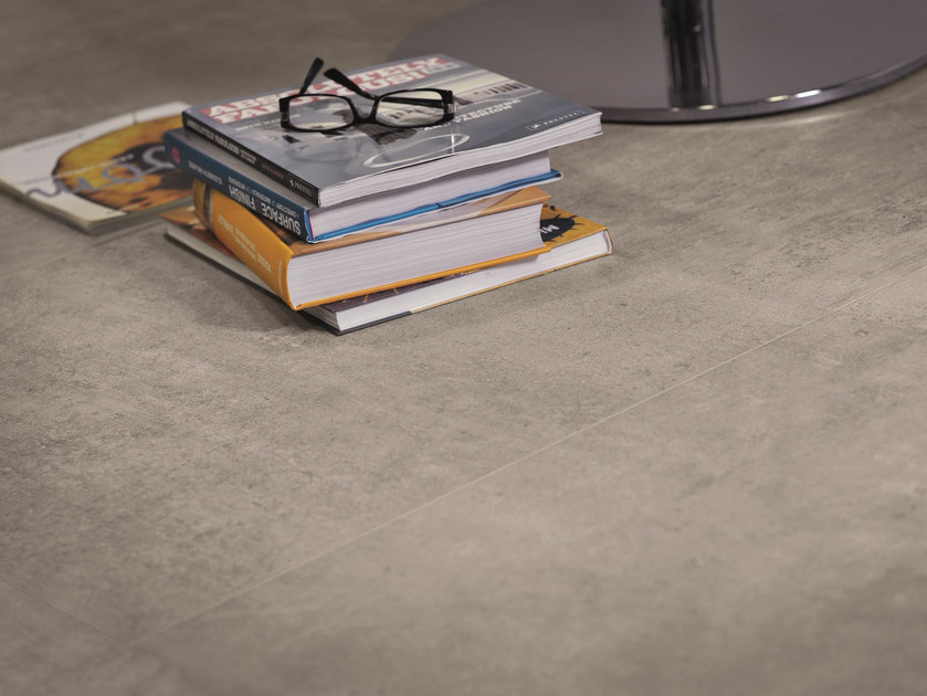 Porcelain stoneware wall/floor tiles with concrete effect ON SQUARE CEMENTO by EmilCeramica by Emilgroup