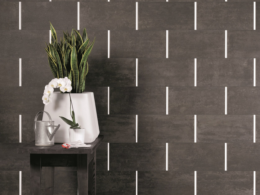 Porcelain stoneware wall/floor tiles with concrete effect ON SQUARE LAVAGNA by EmilCeramica by Emilgroup