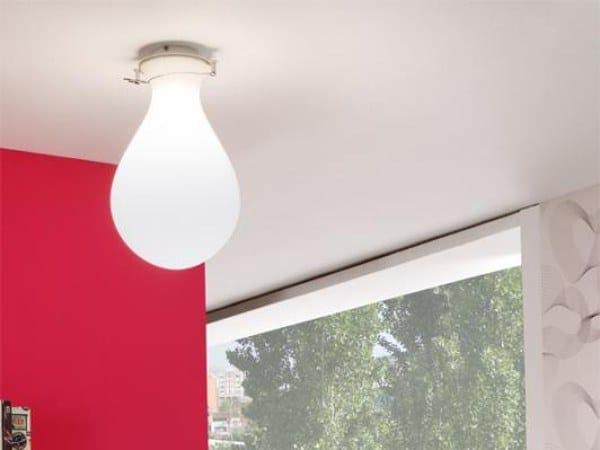 LED direct light polyethylene ceiling light ONA 6193 by Milan Iluminacion